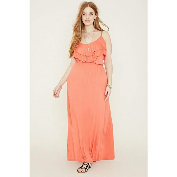 Plus Size Ruffled Maxi Dress NWT - Sold Out Online NWT
